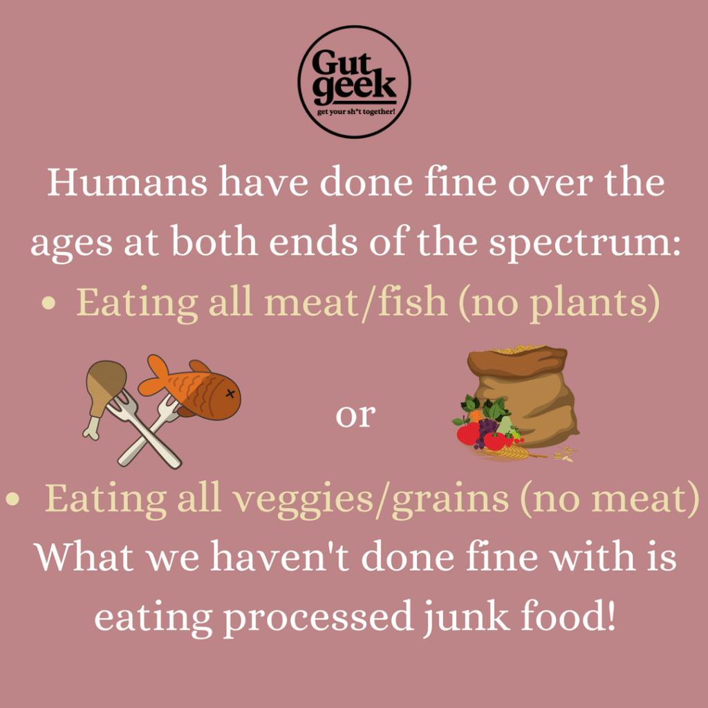 Plant based vs Carnivore vs Processed
